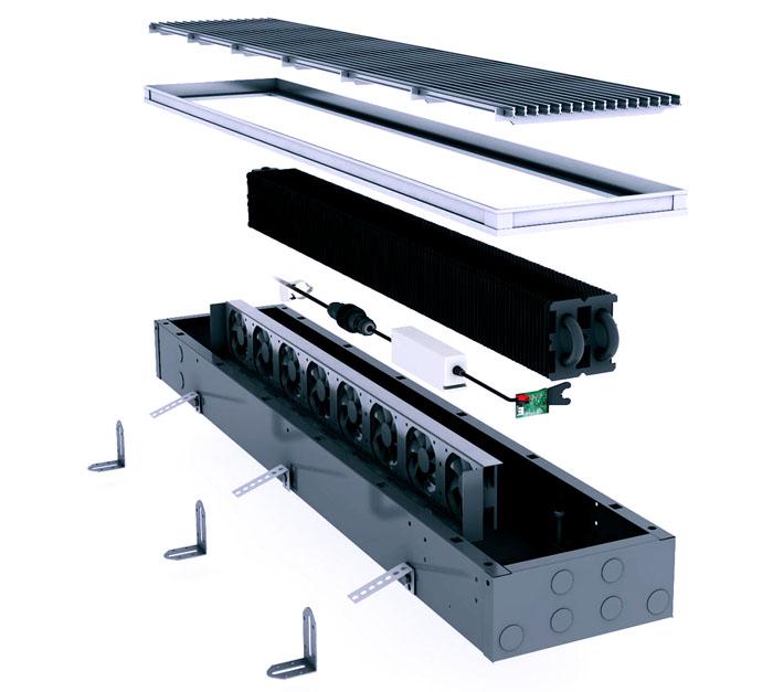 Повышают эффективность с помощью встроенных вентиляторов. Но это решение повышает стоимость установки и ее эксплуатации, а также создает шум в помещении