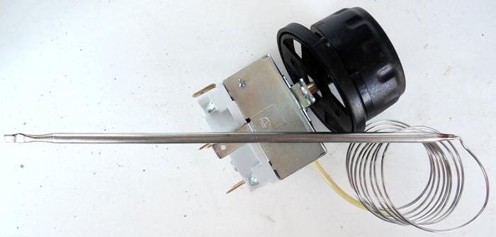 Термореле с датчиком температуры используется для установки нужного режима работы духового шкафа