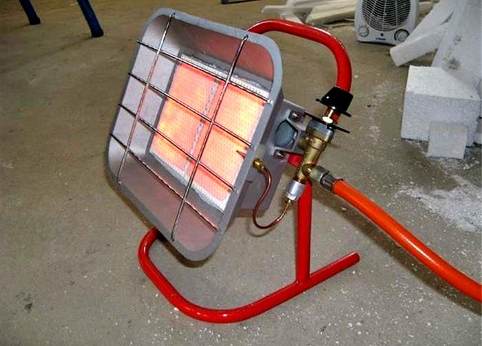 Вариант установки отопления в гараже