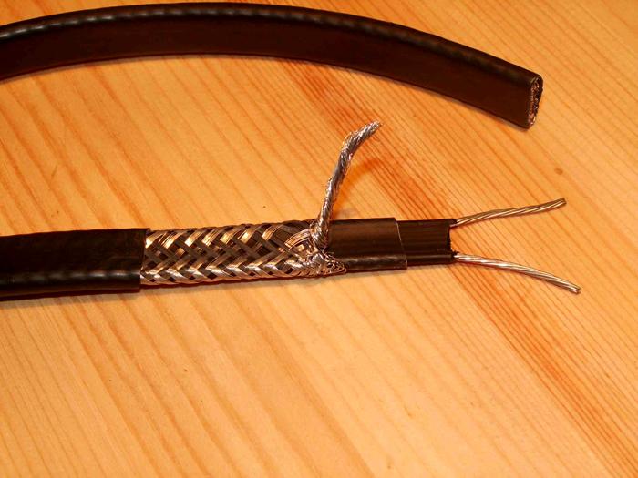 Вид кабеля в разрезе