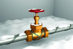 Кабель для обогрева водопроводной трубы.