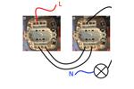 Проходной выключатель: схема подключения на 2 точки.