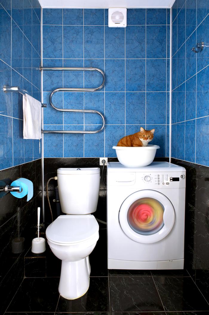 Монтаж в туалете