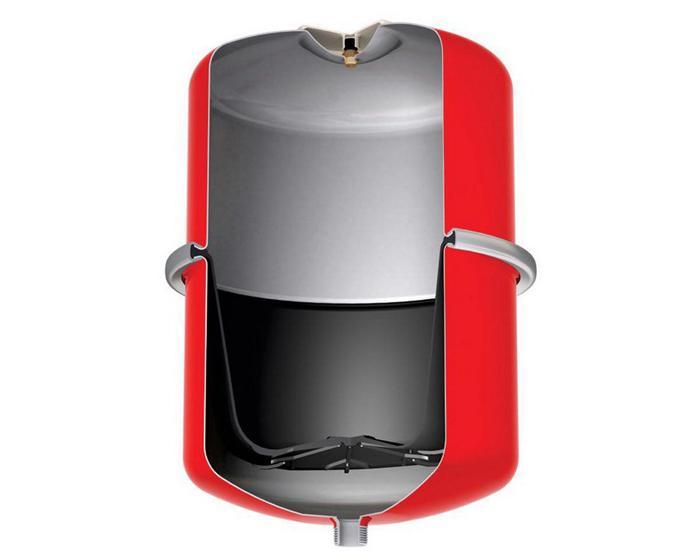 Водяной аккумулятор одноразовый в разрезе