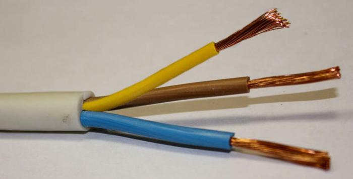 Современный трехпроводной кабель