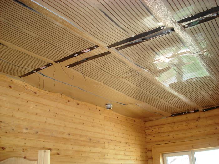 Пример в деревянном строении