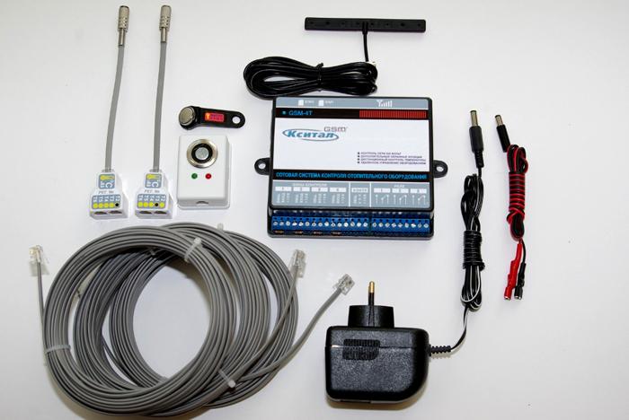 С помощью такого набора можно организовать управление котлом через сеть GSM оператора сотовой связи