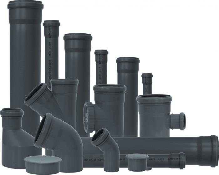 Комплект современных труб ПВХ