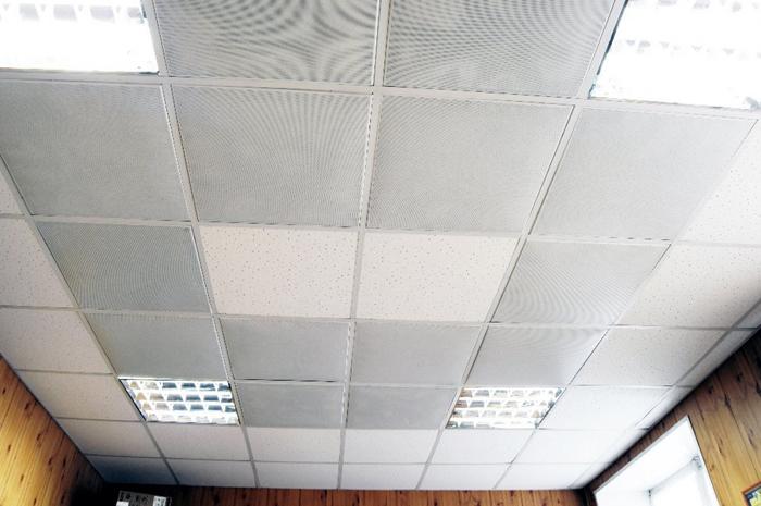 Вариант отделки потолка с использованием ИК отопления
