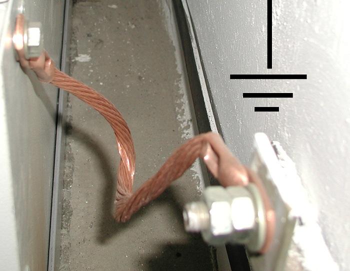 Присоединение станка к общей цепи зануления